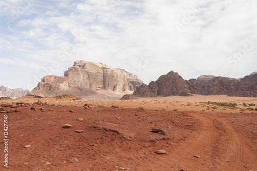 Poster Jordan Wadi Rum Road Desert