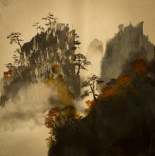 Herbst in den Bergen von China