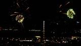 Fireworks over night city