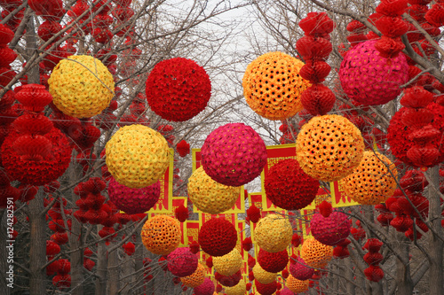 Chinese, Lunar, New Year Large Decorations Ditan Park, Beijing, Poster