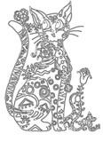 Рисунок кошка узор