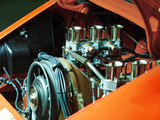 911 Motor Oldtimer roter Sportwagen, Rennauto siebziger Jahre