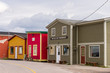 Colorful store fronts on the main street in Woody Point, in Gros Morne National Park, Newfoundland.