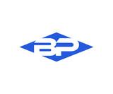 Simple Vector Modern Initial Letters Logo Croped in Diamond shape bp
