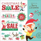 Christmas sale design elements