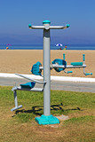 Exercise equipment on a Turkish beach, installed by the council to encourage people to stay healthy