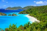 Trunk Bay on St John island, US Virgin Islands - 124347544