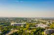 Leinwanddruck Bild - panoramic view of downtown dortmund and stadium, germany