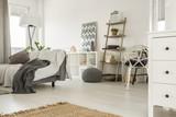 Spacious home interior in white