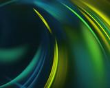 blue green haze feather fractal background.  artwork for creative design.