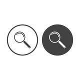 Magnifying glass icon button vector
