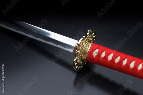 Poster Japanese samurai sword