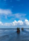Wattwagenfahrt an der Nordsee