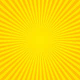 Hot and shiny sun lights, striped lines art background. - 124363513