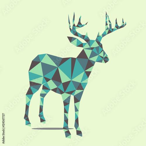 Fotobehang Hipster Hert Xmas deer
