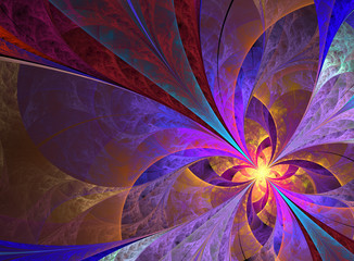 Beautiful multicolored butterfly fractal background