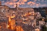 Fototapety Sorano, Grosseto, Tuscany, Italy: landscape at dawn
