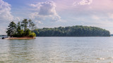 "Panoramic picture of ""Lake Lanier"" in Sugar Hill Georgia"