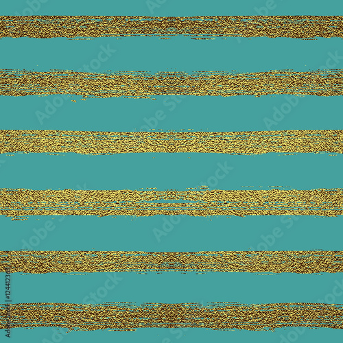 Cotton fabric Seamless pattern with gold stripes