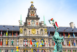 Traditional City Hall at Cental square of Antwerp