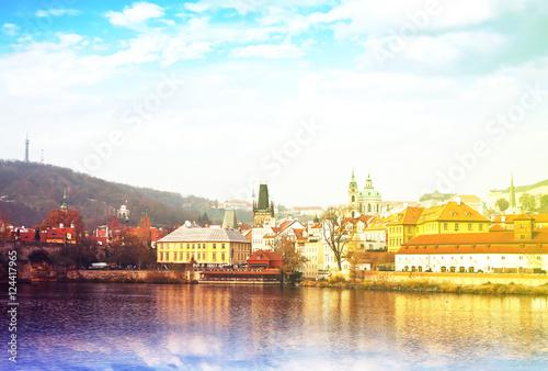 Leinwand Poster view of Prague