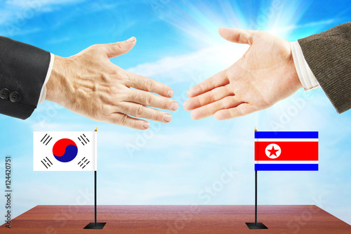 Poster Peace talks between North and South Korea