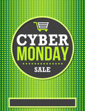 Cyber Monday sale poster design in green color
