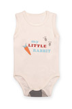 baby bodysuit with pattern Isolated on white