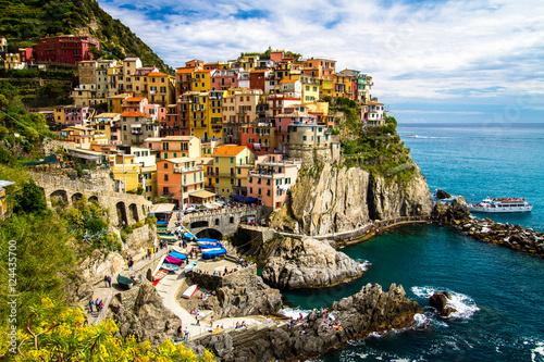 Poster Traditional picturesque Manarola village, Cinque Terre, Italy, Europe