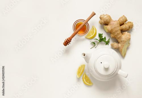Poster Ginger tea ingredients