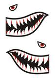 Fototapety Shark teeth decals