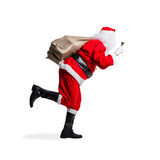 rennender Weihnachtsmann