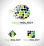 Technology Logo. Tech Logo Icon Vector