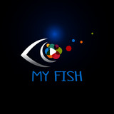 logo and background for fish company, vector version also available in my portfolio