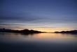 Mountains and sea - sunset & alpineglow,Lynn Canal,Alaska