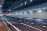 Road tunnel without traffic