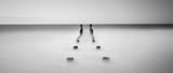 black and white calm ocean - 124471114