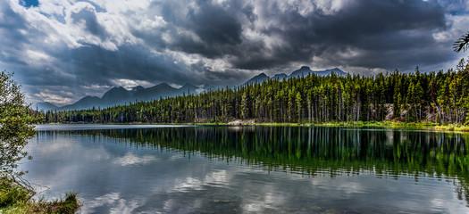 Herbert Lake, Alberta, Canada. On the road north to Jasper. Woul