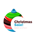 Abstract Christmas sale banner design with blank space