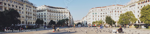 Aristotelous Square, Thessaloniki, Greece. Aristotelous Square is the main city square of Thessaloniki and is located on the city's waterfront.