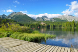 Lake Strbske Pleso in the National Park High Tatra
