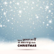 Vector Illustration of an Abstract Christmas Greeting Card with Sparkling Stars