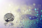 gems on shiny bokeh background