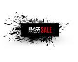 Black Friday sale inscription design template. Rectangular banne