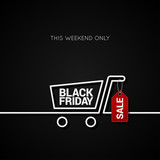 Black Friday sale tag and shopping background - 124525916