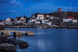 Night image from Swedish fishing village. - 124535511