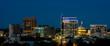 Night skyline of Boise Idaho with city lights