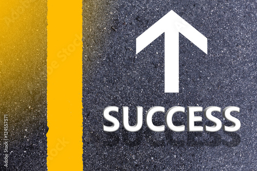 Poster Road of successful concept.