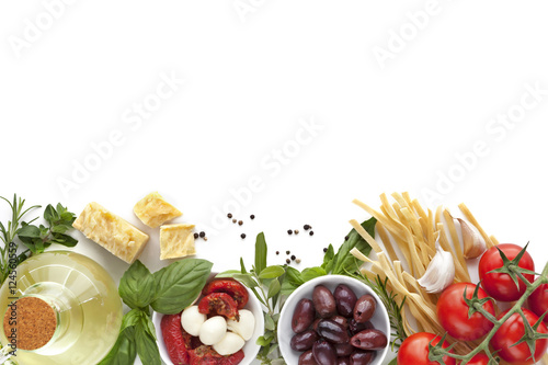 Poster Italian Food Background