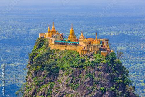 Poster Mt. Popa, Bagan, Myanmar